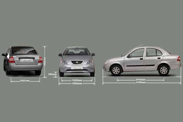 مشخصات فنی و لوازم یدکی تیبا خودروی ملی سایپا نمای کلی از همه طرف